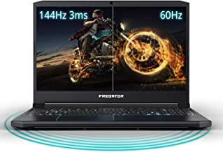 "Acer Predator Helios 300 Gaming Laptop PC, 15.6"" Full HD 144Hz 3ms IPS Display, Intel i7-9750H, GeForce GTX 1660 Ti 6GB, 1..."