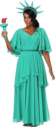 Woherren Plus Größe Statue of Liberty Fancy Dress Costume 2X