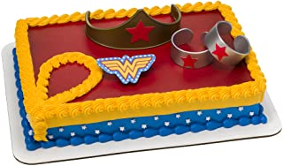 """DecoPac 7222, Wonder Woman Strength and Power Cake Toppers, 3"""", count of 4"""