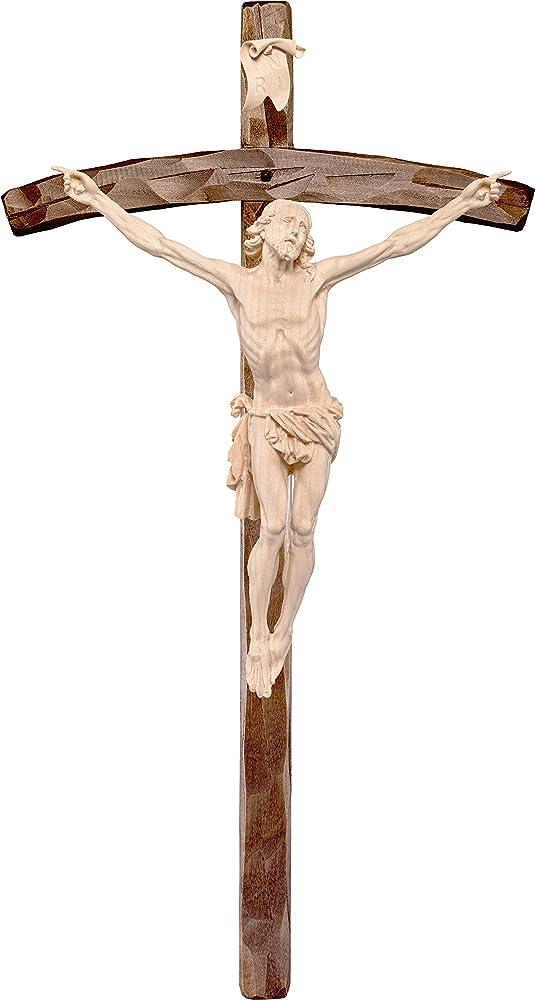 Ferrari & arrighetti crocifisso cristo della passione ,statua in legno dipinta a mano. D2312_142