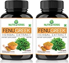 Nutriherbs Fenugreek (Methi) Pure Seed Extract Supplement | Source of Vitamins Support Lactation Mother | Helps in Joints ...