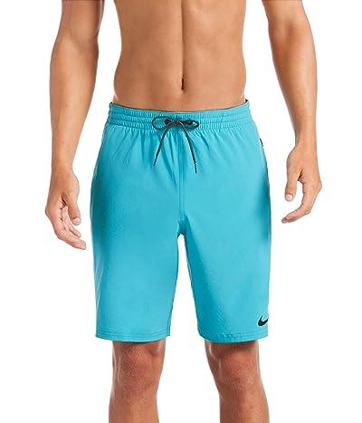 Nike 9 Logo Tape Racer Volley Shorts (Oracle Aqua) Men