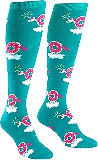 Sock It to Me, Donuticorn, Women's Knee-High Funky Socks, Donut Unicorn Socks