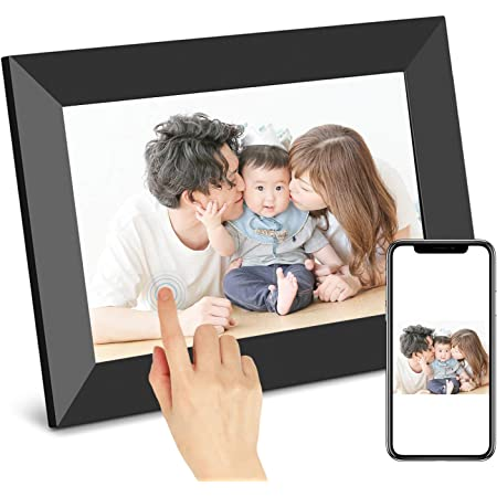 SCISHIONブラックWiFiデジタルフォトフレーム1280*800高解像度タッチスクリーンIPS視野角 16GB内部ストレージ 1080P写真/動画/音楽再生家族/友人/彼女/彼氏などへのプレゼント装飾用—どこでもいつでも、アプリFrameoで喜びを分かち合おう 日本語説明書(10.1インチ)