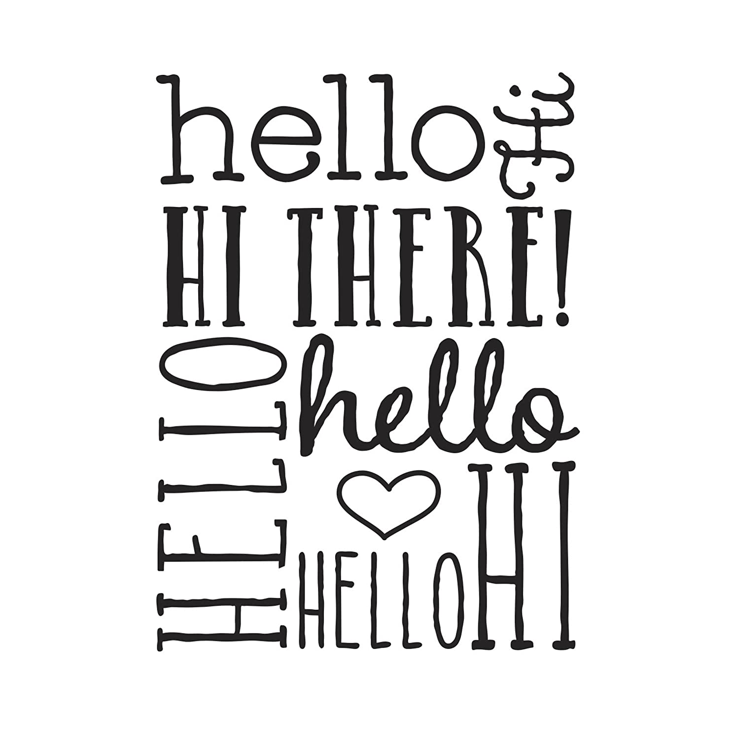 Darice Hello Word Collage Embossing Folder