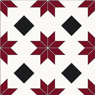 comprar comparacion WallPops FP2482 Orion - Azulejos para suelo (10 unidades), color rojo