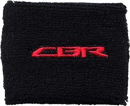 Honda CBR Black/Red Brake Reservoir Cover by MotoSocks Fits CBR, 600, 1000, 600RR, 1000RR