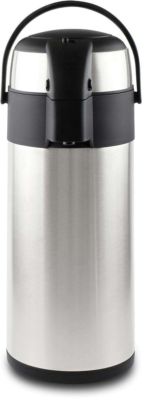 Pioneer - Termo de Acero Inoxidable con dispensador de té y café, Acero Inoxidable, Satin Finish, 4 L