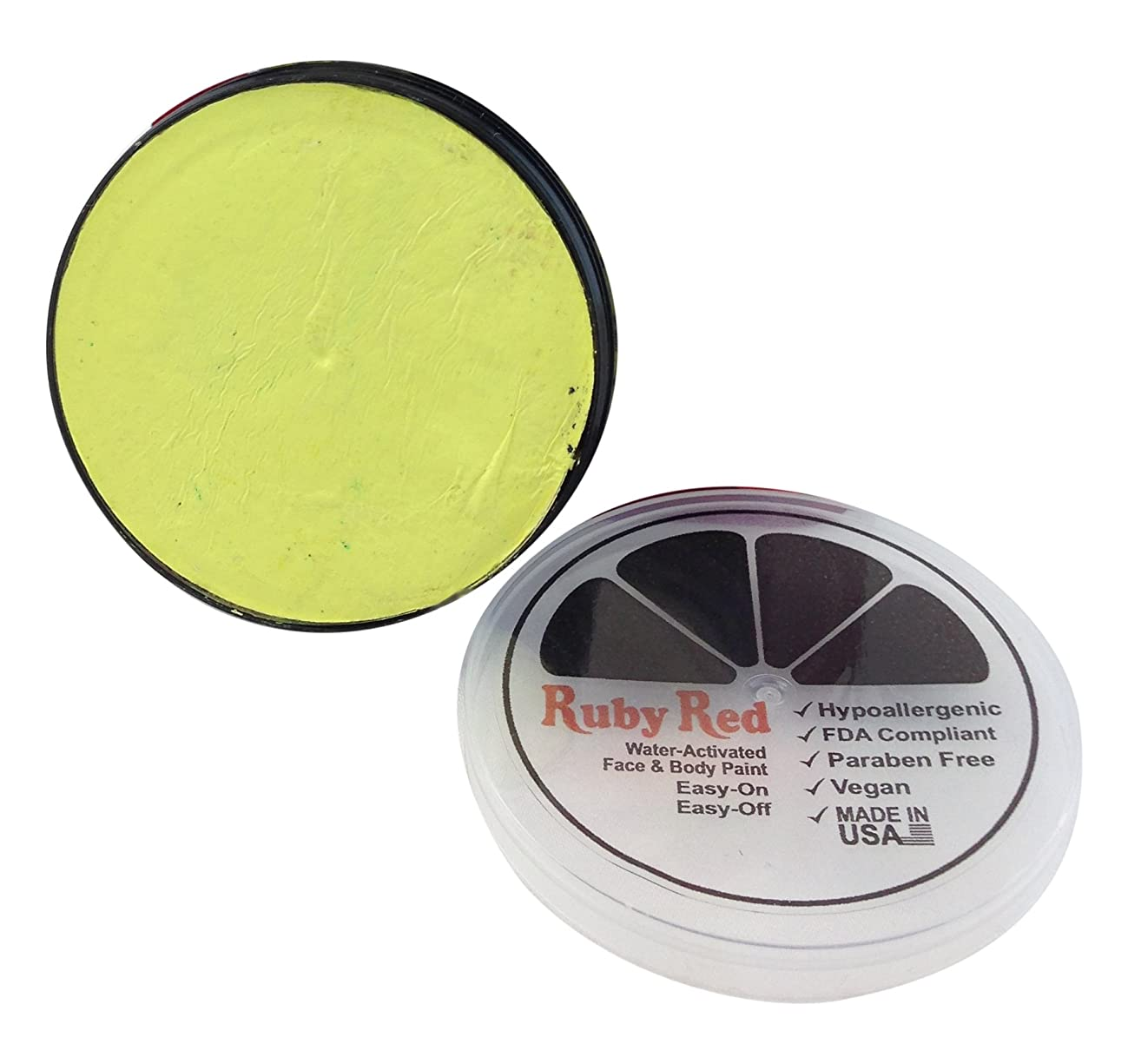 Ruby Red Paint Face Paint, 18 ML - Pastel Yellow