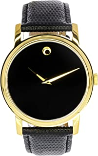 Movado Mens 2100005 Museum Gold Classic Leather Watch