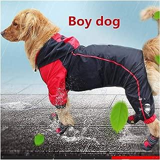 haleysmall Raincoat Large Dog Waterproof Costume Apparel Jumpsuit Outfits Samoyed Golden Retriever