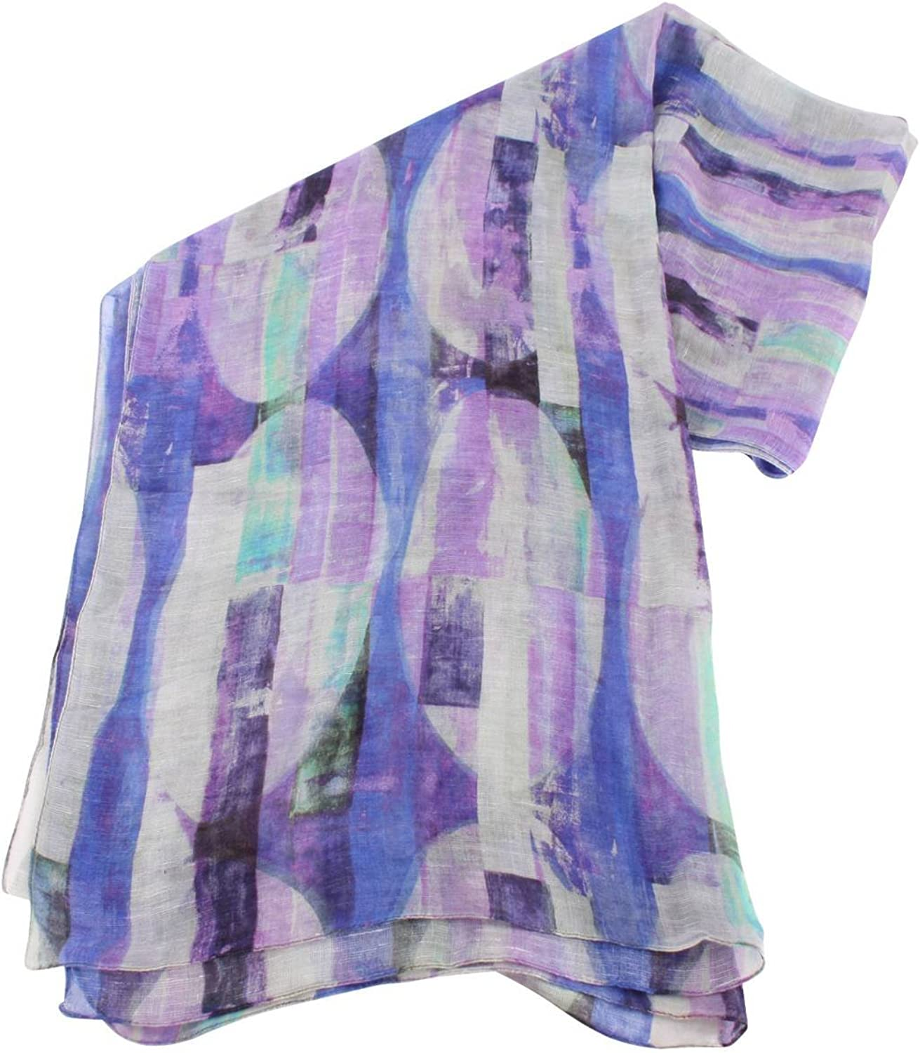 Bassin and Brown Womens Vanilla Abstract Stripe Cotton Scarf  Purple purplec