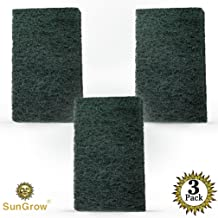 SunGrow Aquarium Scrub Pads, Cleans Tank from Nooks and Crannies Easily, Saves Time, Creates A Sparkling Clear Aquarium, Long-Lasting Pads