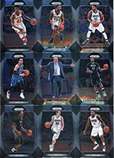 2017-18 Panini Prizm Basketball Minnesota Timberwolves Veteran Team Set of 9 Cards: Andrew Wiggins(#81), Karl-Anthony Towns(#82), Jeff Teague(#83), Jimmy Butler(#84), Jamal Crawford(#86), plus more