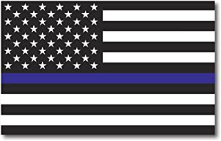 Thin Blue Line American Flag Magnet Decal 5 x 8 Heavy Duty for Car Truck SUV - in Support of Police and Law Enforcement Officers
