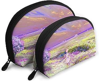 Girl Loneliness Art Field Bolsas portátiles Bolsa de Maquillaje Bolsa de artículos de tocador Bolsas de Viaje portátiles ...