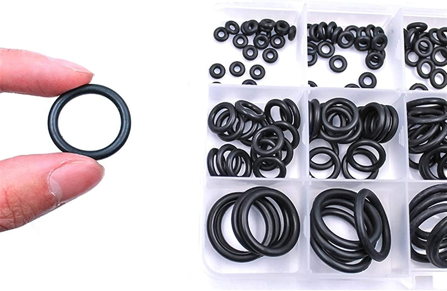 O Ring Assortment Size : 2.4 NBR Sealing O-Rings Nitrile Washer O-Ring Set Assortment Kit Set Box Tools for Factories and Homes Thickness 1.5//2//2.4//3//1.8//2.65mm O Rings Rubber O Ring Seal