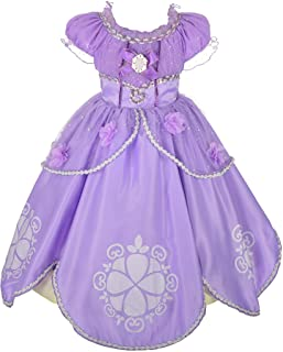 Dressy Daisy Girls' Princess Dress Up Costume Cosplay Pueple Halloween Xmas Fancy Party Dresses 62