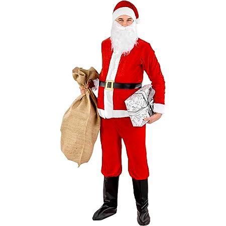 Babbo Natale Uomo Bello.Dressforfun Costume Da Uomo Babbo Natale Giacca Con Chiusura A Strappo Pantaloni Con Elastico