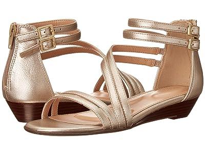 Rockport Total Motion Zandra Asym Ankle (Moon Gold) Women