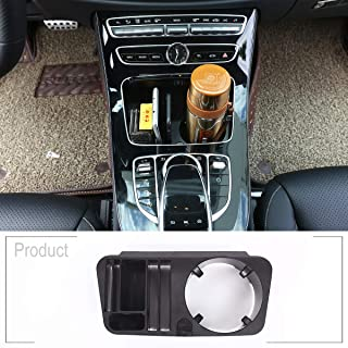 TongSheng ABS Plastic Central Console Storage Box Water Cup Holder Accessory 1pc for Mercedes Benz C/E/GLC Class C207 Coupe w212 w213 w205 2014-2017