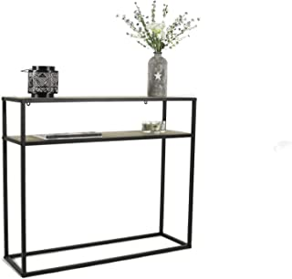 LIFA LIVING Console Meubles Industriel pour Salon, entrée Chambre ou Cuisine, Table d'appoint métal et Bois rectangulaire,...