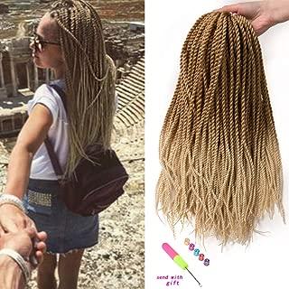 VERVES 6 pack Crochet Braids 30 Strands/pack, Braiding Hair 18 inch Senegalese Twist Hair Extensions (27/613)