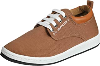 Salerno Sport Textile Side Logo Leather Collar Sneakers for Men