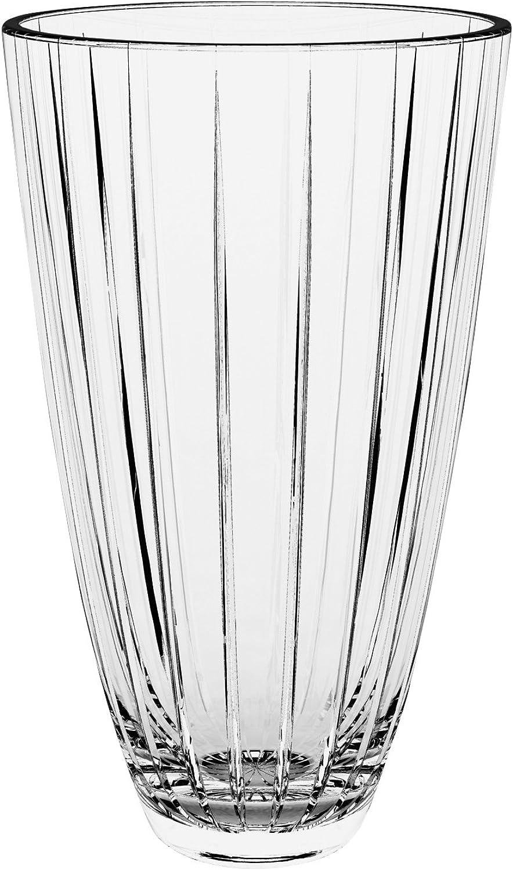 Barski European Glass Designed Vase, 12  H, Made in Europe