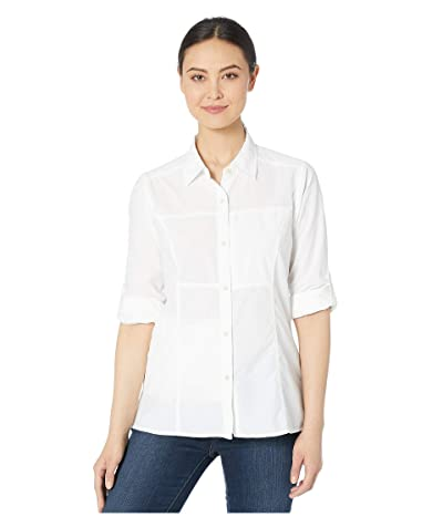 ExOfficio Lightscapetm Long Sleeve Shirt (White) Women