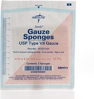 MEDLINE NON21424 NON21424H Woven Sterile Gauze Sponges (Pack of 50)