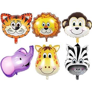 "Qté 12 Safari Léopard Zèbre Tigre Cheetah Animal Jungle Safari 11/"" Latex Ballon"