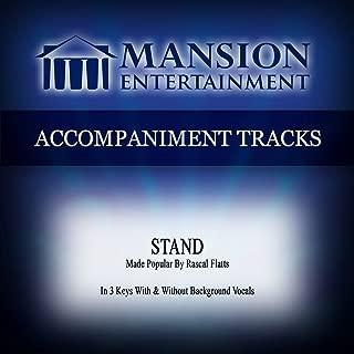 Stand (Made Popular by Rascal Flatts) [Accompaniment Track]
