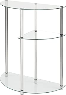 Sponsored Ad - Convenience Concepts Designs2Go Classic Glass 3 Tier Display Entryway Table, Glass