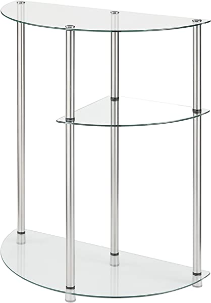 Convenience Concepts Designs2Go 3 Tier Glass Display Entryway Table Glass