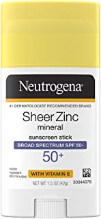Neutrogena Sheer Zinc Oxide Dry-Touch Mineral Face Sunscreen Lotion with Broad Spectrum SPF 50