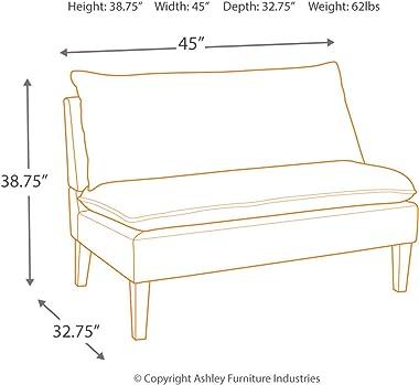 Signature Design by Ashley Arrowrock Modern Farmhouse Striped Accent Bench, White & Gray