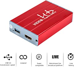 Basicolor Capture Card USB 3.0 Video Game Capture 1080p @ 60fps Support PS4/3 Xbox Wii U with HD Loopout, Plug and Play Support HDMI Game Live/HDMI Video Recording/Live Streaming Capture Device(3211)