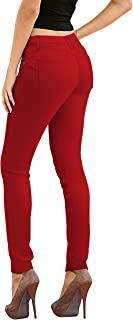 red yoga jeans