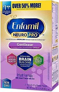 Enfamil NeuroPro Gentlease Infant Formula - Brain Building Nutrition Inspired by breast milk - Powder Refill Box, 30.4 oz (Pack of 12)