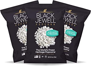 Black Jewell Aged White Cheddar Hulless Heirloom Popped Popcorn 4.5 Ounces (Pack of 3)