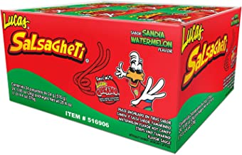 Lucas Salsagheti Gusanos Sandia - Hot Mexican Candy 24-0.85oz Packages