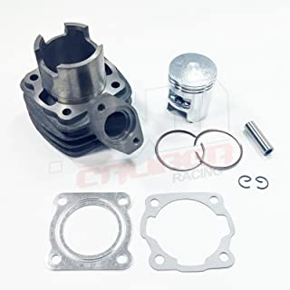 50 Caliber Racing Replacement Top End Rebuild Kit - Cylinder, Piston & Gaskets for 1984-87 Honda NQ50 Spree + More [4449A14]
