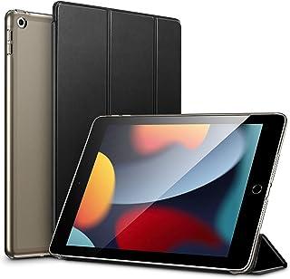 ESR iPad 第9/8/7世代 (2021, 2020, 2019) ケース オートスリープ/ウェイク機能対応 半透明 薄型 軽量 傷防止 ハードカバー 三つ折りスタンド ブラック