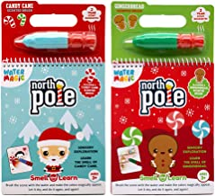 Scentco Water Magic - Reusable Water Reveal Activity Books - Candy Cane & Gingerbread Scents (2-Pack)