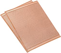 uxcell 15x18cm Single Sided Universal Paper Printed Circuit Board Thickness 1.6mm for DIY Soldering Brown 2pcs