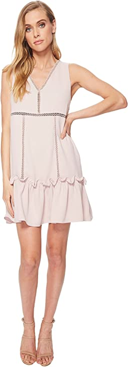 Frilled Hem Drop Waist Shift Dress