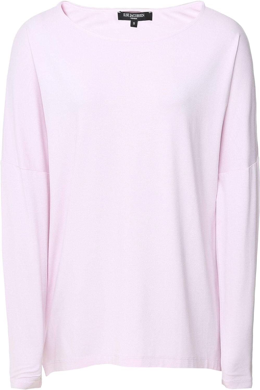 ILSE JACOBSEN Women's Jersey Long Sleeve Top Pale Pink