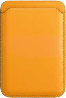 Compatible with iPhone 12/12 Pro/12 Pro MAX, Leather Wallet with MagSafe for Men Women (California Poppy)
