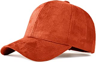 4b63ca9def8 LIXYIT Snapback Caps Faux Leather Suede Baseball Cap Women Adjustable  Casual Low Profile Dad Hat Men